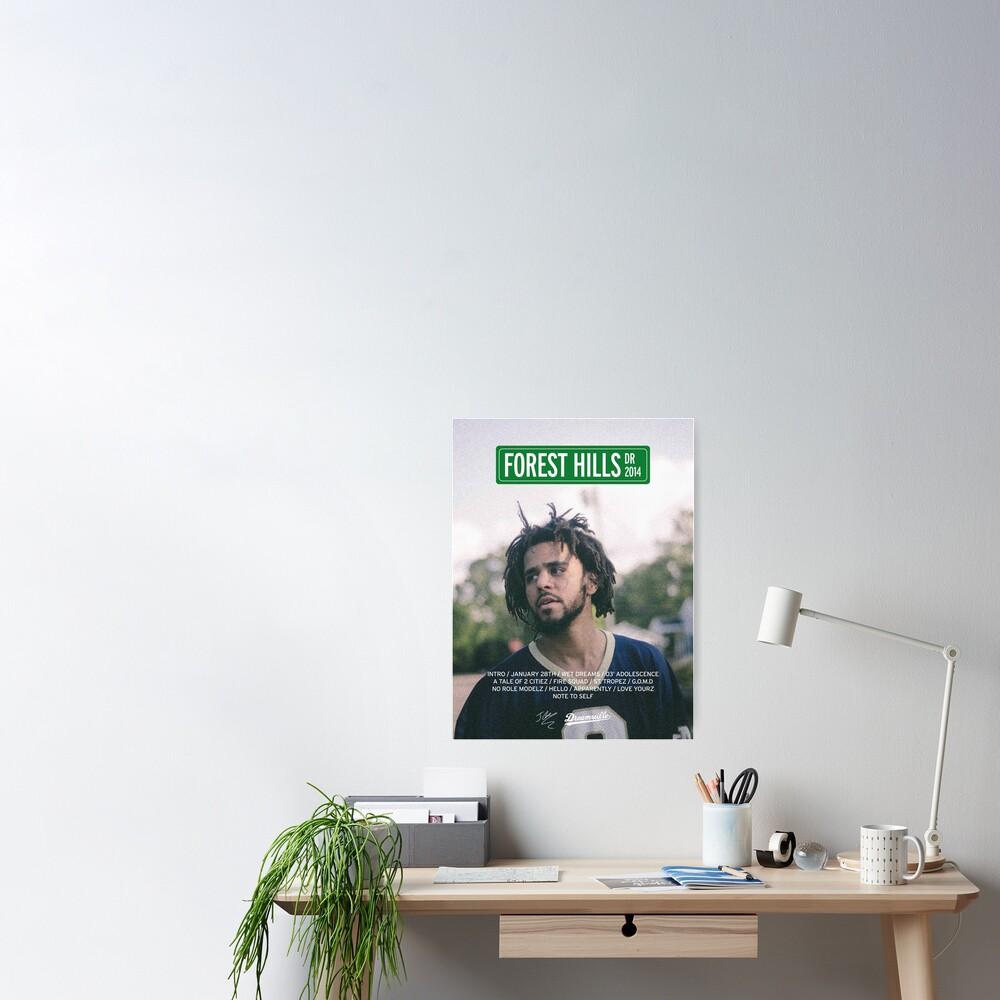 J Cole – 2014 Forest Hills Drive | Tracklist Poster Poster