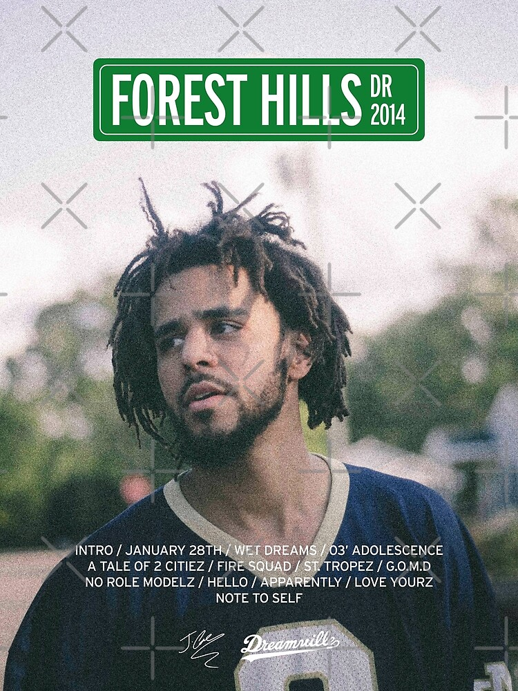 J Cole – 2014 Forest Hills Drive | Tracklist Poster by karanwashere