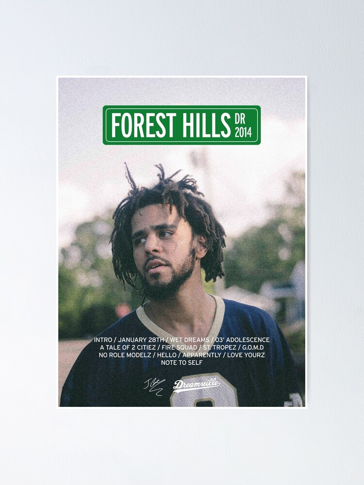 Alternate view of J Cole – 2014 Forest Hills Drive | Tracklist Poster Poster