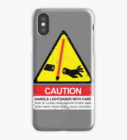 CAUTION: Handle With Care iPhone Case