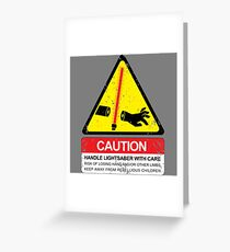 CAUTION: Handle With Care Greeting Card