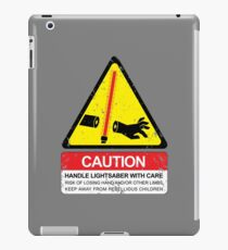 CAUTION: Handle With Care iPad Case/Skin