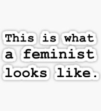 This is what a feminist looks like.  Sticker