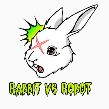 RABBIT vs ROBOT Smudgey with Title by FilthyTBear