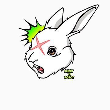 RABBIT vs ROBOT Smudgey w/ small title by FilthyTBear