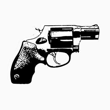 Gun/revolver Tshirt  by SamandFaz