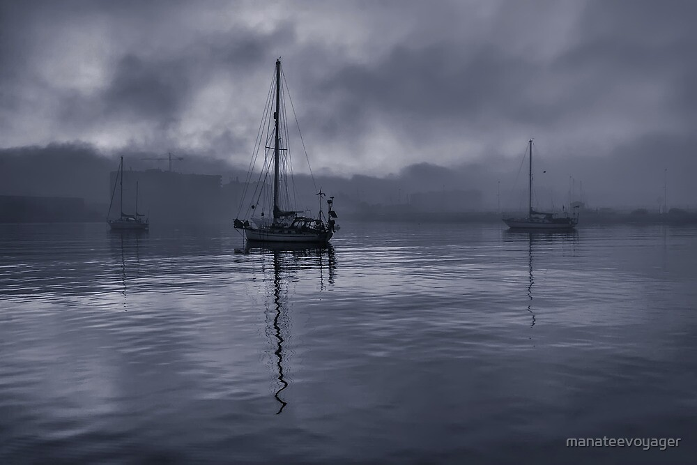 Boats In The Fog by manateevoyager