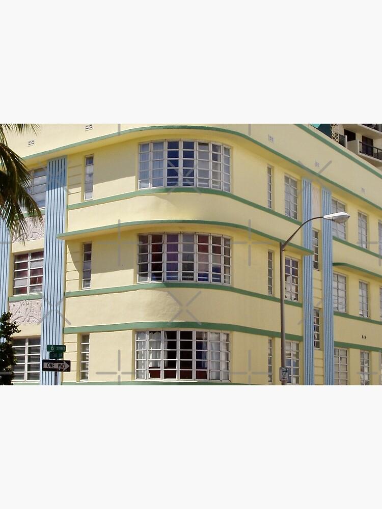 Corner of Yellow Miami South Beach Art Deco Building by billingtonpix