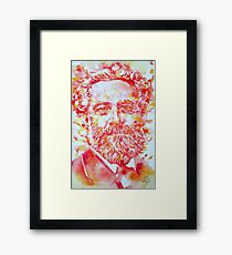 JULES VERNE watercolor portrait Framed Print