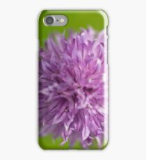 Pink chive flower iPhone Case/Skin