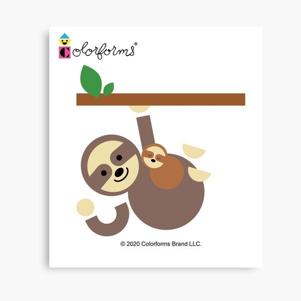 Colorforms Sloth Canvas Print