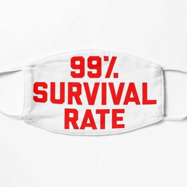 99% Survival Rate Flat Mask