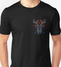 Pale geometric deer head T-Shirt