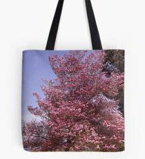 Pink Petals Along Puget Sound - Commencement Bay Tote Bag