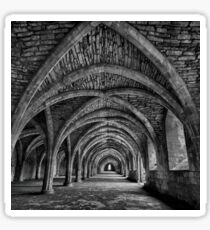 Fountains Abbey Cellarium Monochrome Sticker