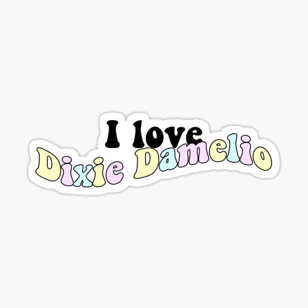 Amo a Dixie Damelio Pegatina
