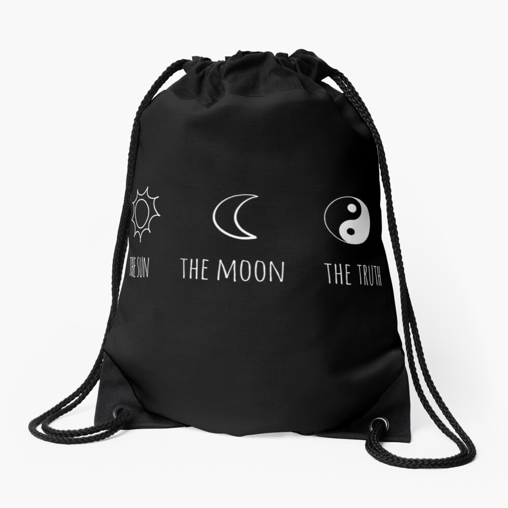 The Sun, The Moon, The Truth Drawstring Bag