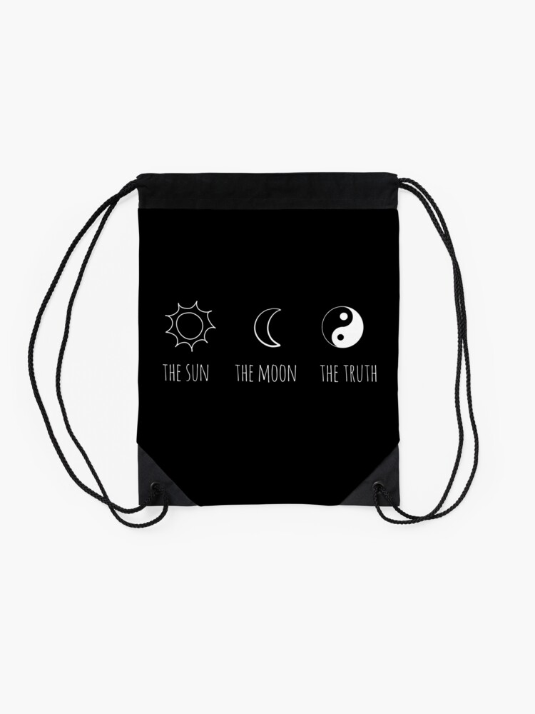 Alternate view of The Sun, The Moon, The Truth Drawstring Bag