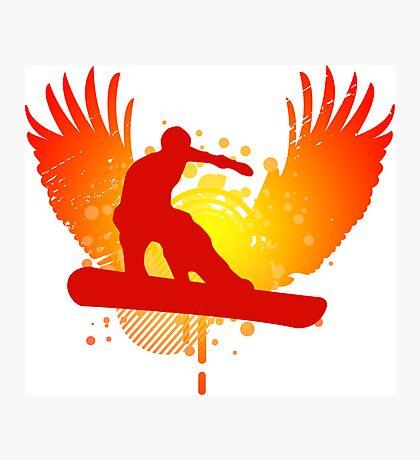 snowboard : hi-fi Photographic Print