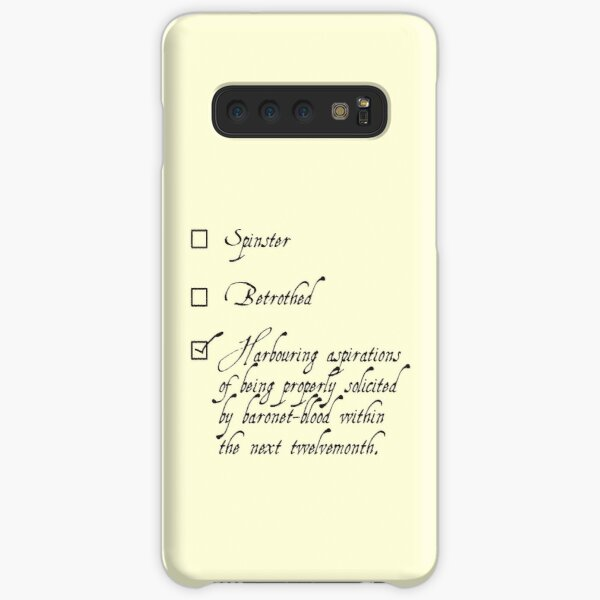 Jane Austen Single / Taken meme Samsung Galaxy Snap Case