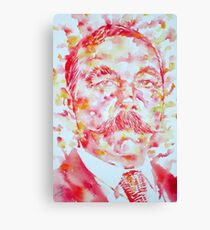 ARTHUR CONAN DOYLE watercolor portrait Canvas Print