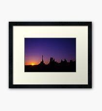 Monument Valley Sunrise Framed Print