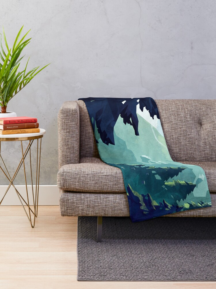 Alternate view of Canadian Mountain Throw Blanket