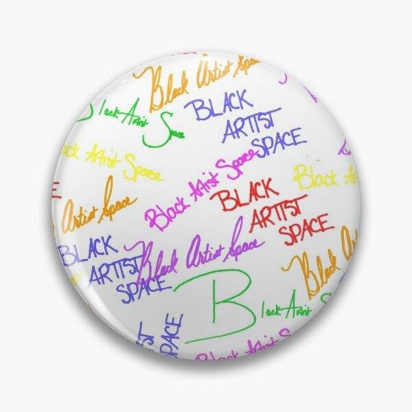 Black Artist Space Signature Rainbow Logo Pin