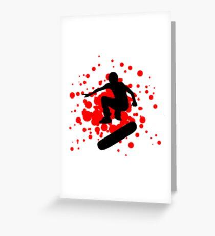 skateboard bubbles Greeting Card