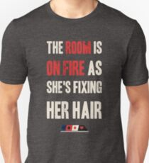 room on fire cards T-Shirt