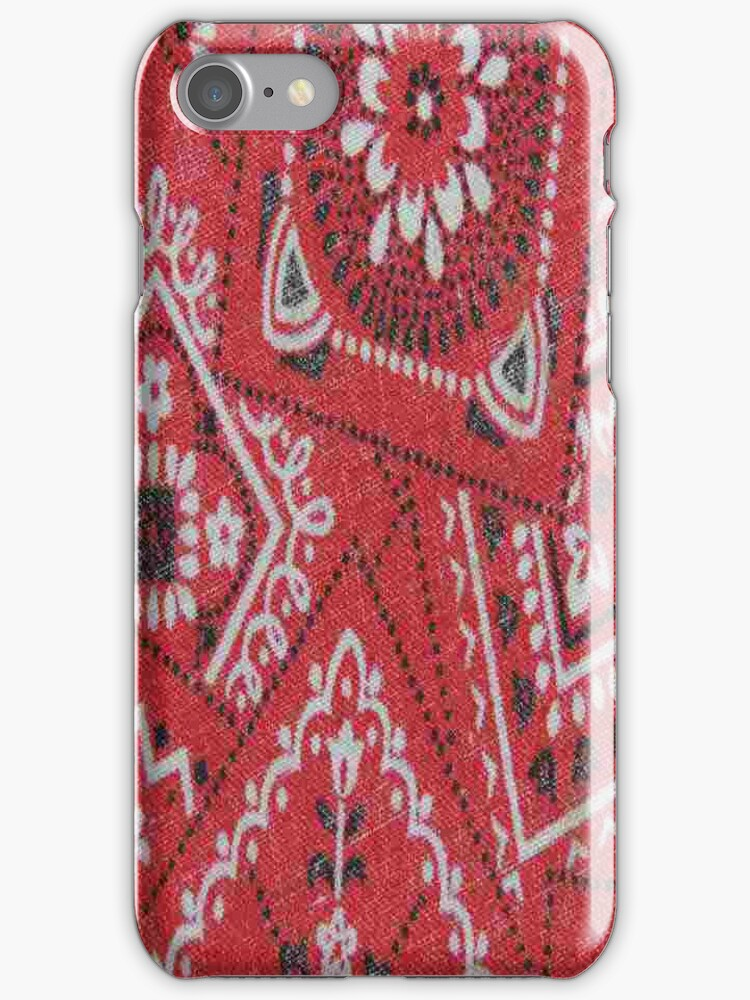 Red Bandana - iPhone Case by Betty  Town Duncan