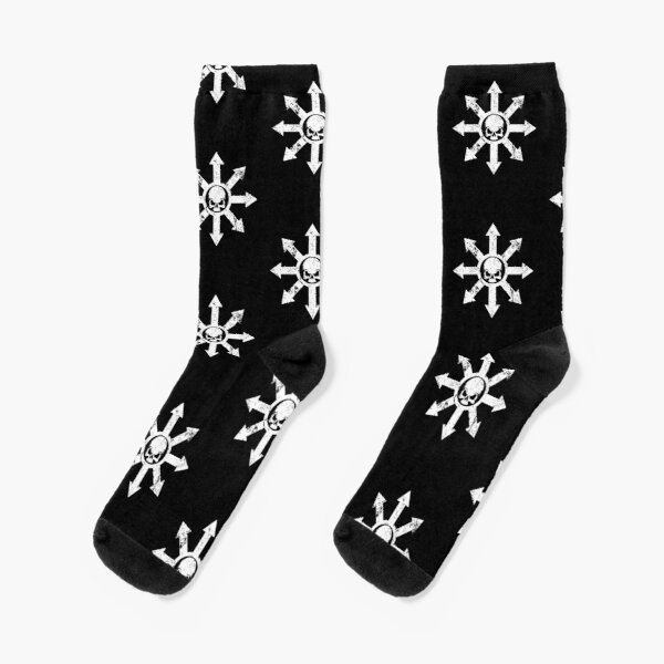 Mark of Chaos Distressed White Socks