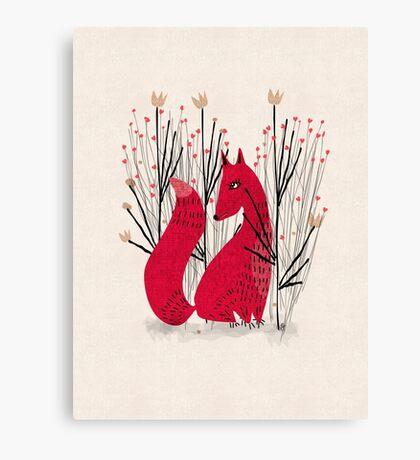 Fox in Shrub Canvas Print