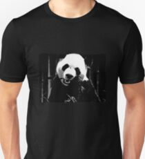 Cute Giant Panda Bear with tasty Bamboo Leaves T-Shirt