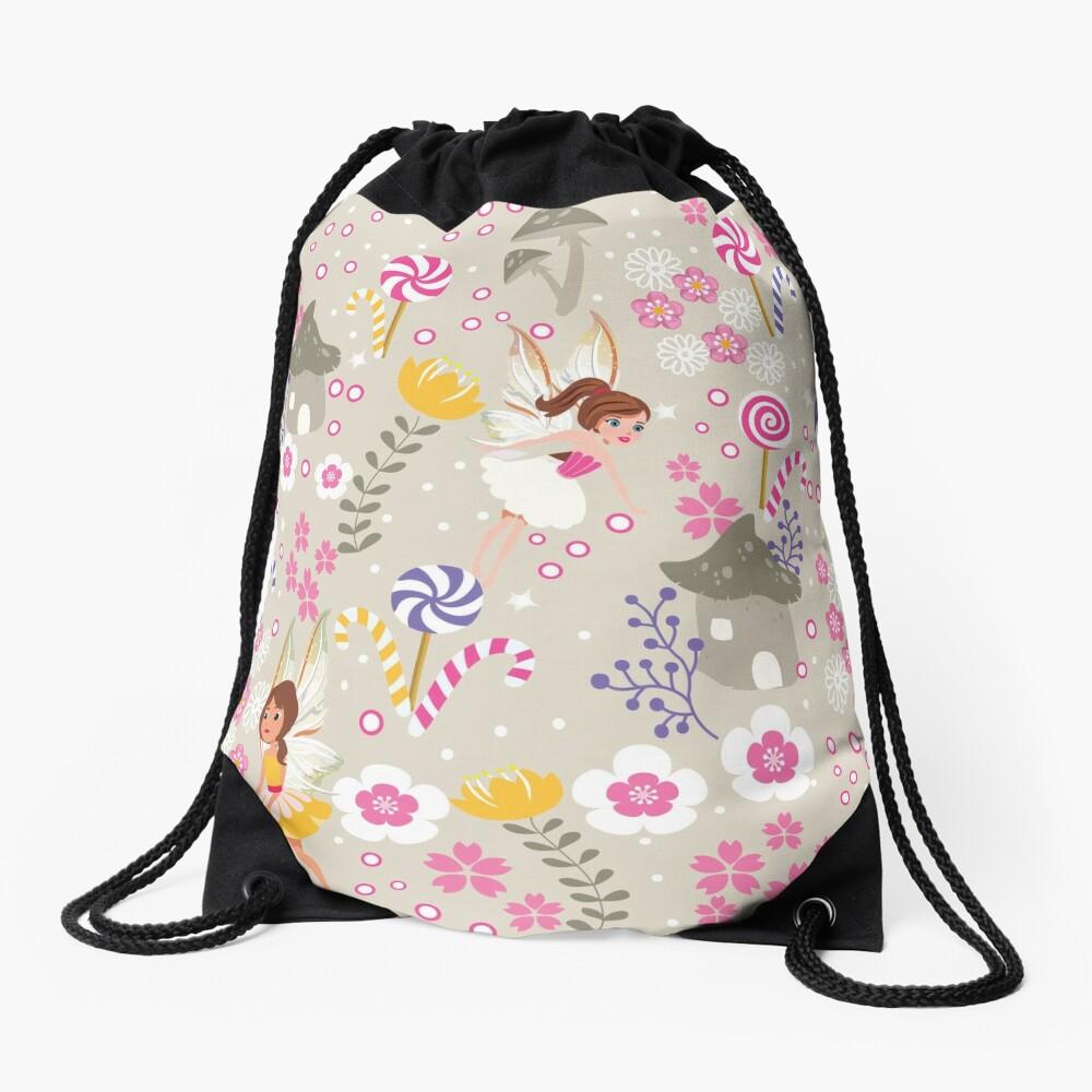 Beige Helper Fairies In Tommy Tinker's Village™ Drawstring Bag