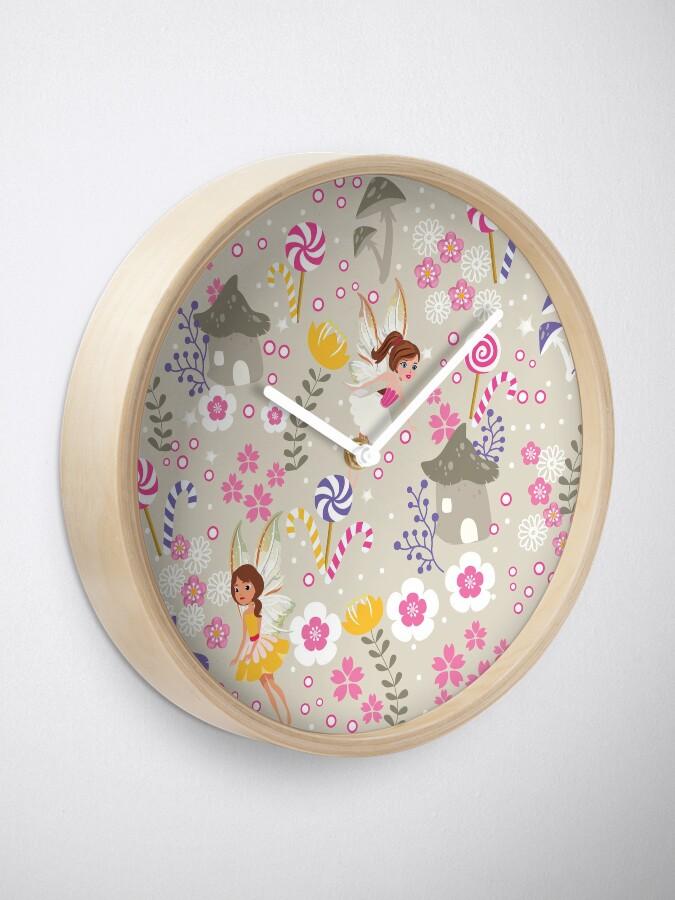 Alternate view of Beige Helper Fairies In Tommy Tinker's Village™ Clock