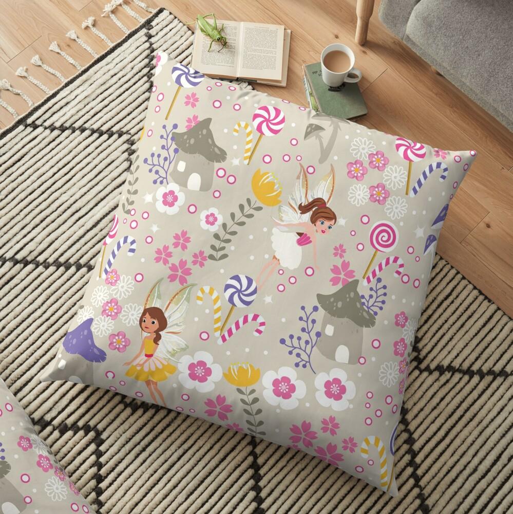 Beige Helper Fairies In Tommy Tinker's Village™ Floor Pillow