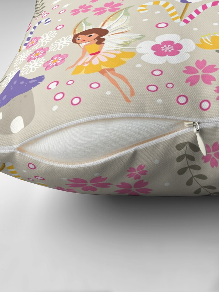Alternate view of Beige Helper Fairies In Tommy Tinker's Village™ Throw Pillow
