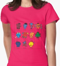 Mr Men Who Womens Fitted T-Shirt