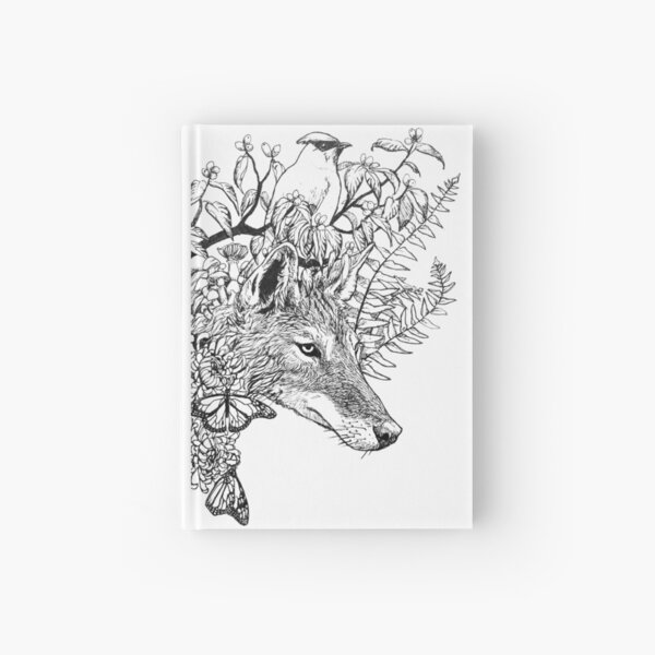 Autumn Coyote Hardcover Journal