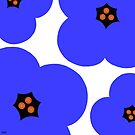 poppies blue by hennydesigns