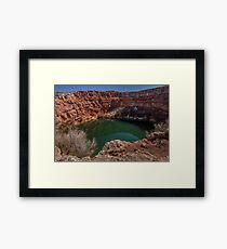 Devils Inkwell - New Mexico Framed Print