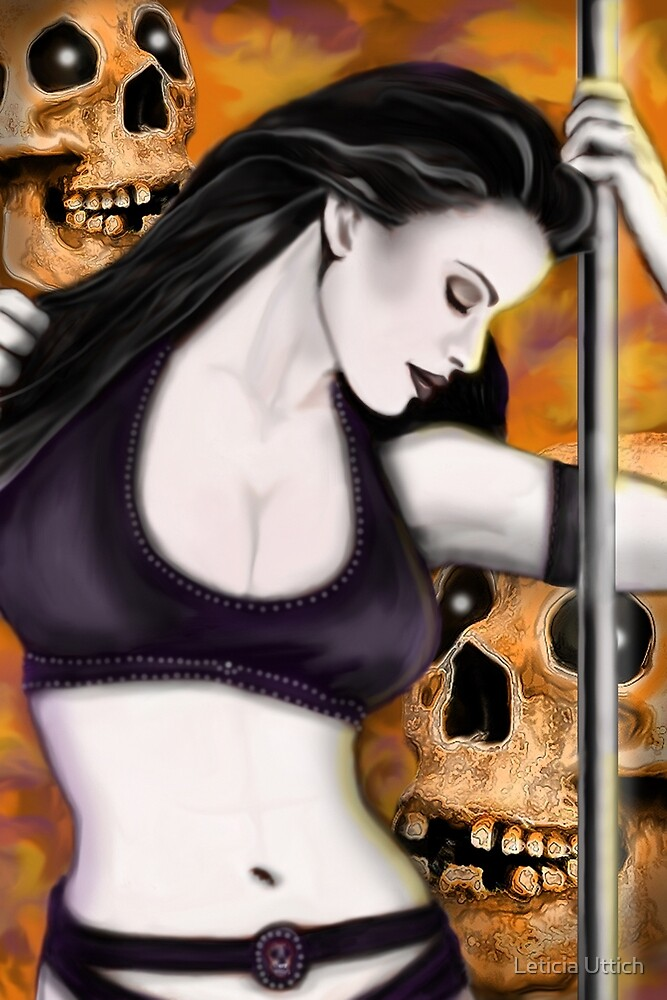 Lady and the Skulls by Leticia Uttich