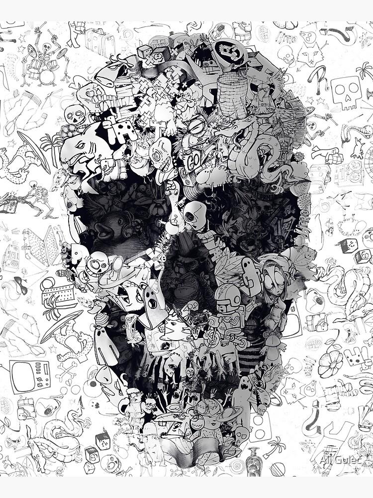 Doodle Skull by aligulec