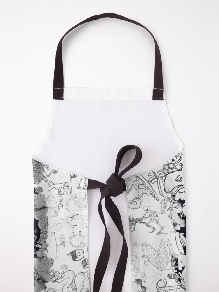 Alternate view of Doodle Skull Apron