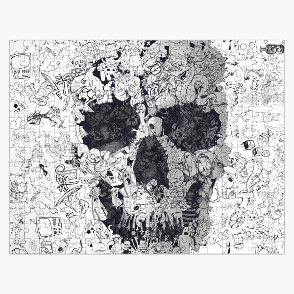 Doodle Skull Jigsaw Puzzle