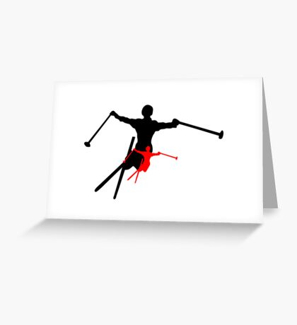 ski shadowstance Greeting Card