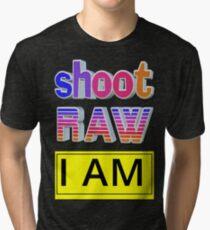 Shoot RAW: I AM Tri-blend T-Shirt
