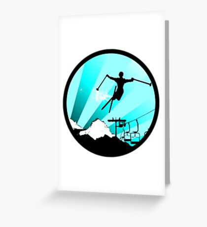 ski : powder trail Greeting Card