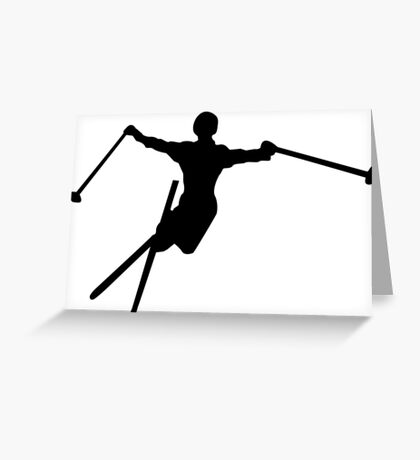 ski : silhouettes Greeting Card